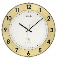 AMS Funk-Wanduhr mit Aluminium-Zahlenring