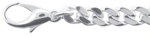 Collier silver 925/-, curb chain 50 cm