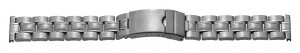 Metal band, stainless steel, 22 mm, steel, brushed/polished