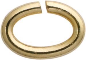 Bindering oval Edelstahl/vergoldet 7,00 x 5,00, Stärke 1,10mm
