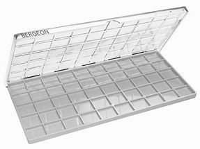 Bergeon findings box w. 50 compartments 220x102x9mm