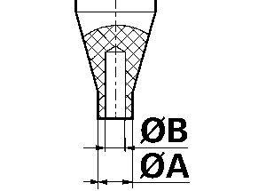 Einsatz für Zeigersetzgerät 6935 Ø 1,5 mm Rohling Bergeon