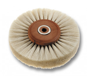 Goat hair brush, dia. 80 mm