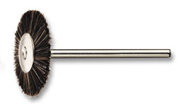 Round brush, nylon, mounted