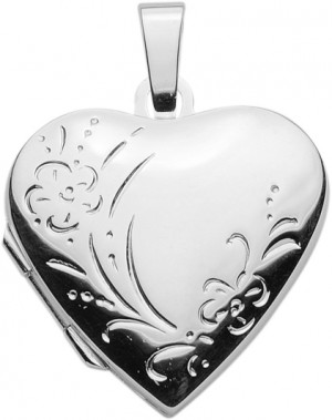 Medallion silver 925/- heart