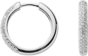 Hoops silver 925/rh dia. 18.00 mm, zirconia