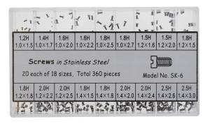 Range of housing ground screw stainless steel, capacity 360 Units