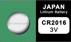 Japan 2016 Lithium Knopfzelle