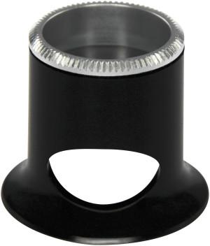 Watchmaker magnifier, black, 2.5x, bi-convex lens Bergeon