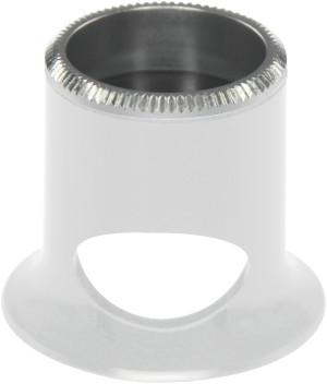 Micros en matière synthétique blanc, avec trou, No 2,5, grossissement 4 x