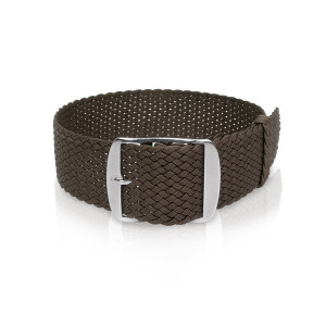 Perlon band dark brown, 18mm