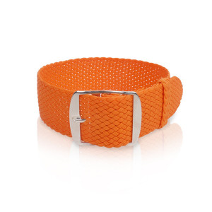 Perlonband orange, 18mm