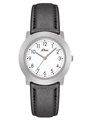 s.Oliver bracelet-montre en cuir noir SO-1364-LQ