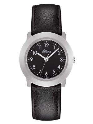 s.Oliver bracelet-montre en cuir noir SO-522-LQ