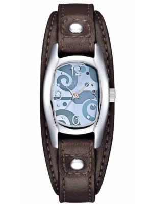 s.Oliver bracelet-montre en cuir brun SO-1579-LQ