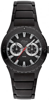 s.Oliver Stainless steel black SO-1916-MM