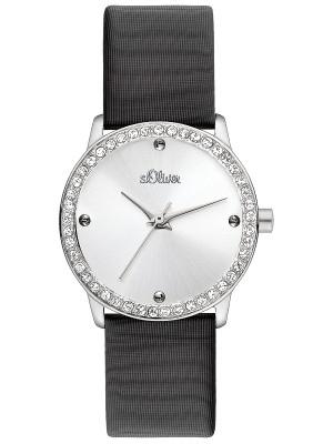 s.Oliver bracelet-montre plastique PU noir SO-2162-LQ