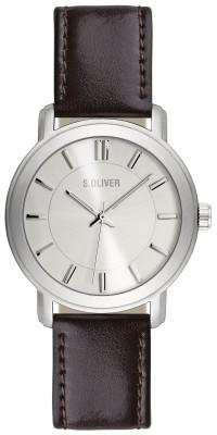 s.Oliver bracelet-montre en cuir brun SO-1900-LQ