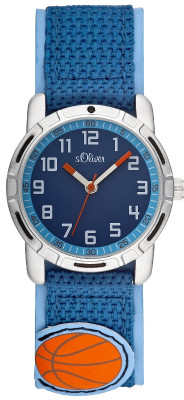 s.Oliver synthetic material textile strap blue SO-1821-LQ