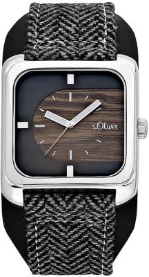 s.Oliver leather/textiles black/gray SO-430-LQ