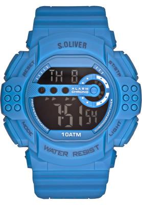 s.Oliver bracelet-montre plastique bleu SO-2635-PD