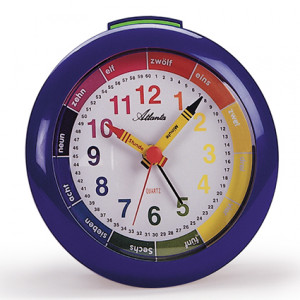 Atlanta 1265/5 blue Quartz alarm clock with top button