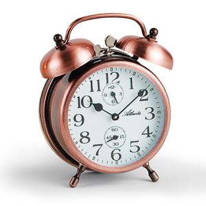 Atlanta 1058/18 copper Mechanical Double Bell Alarm Clock