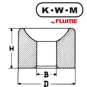 KWM-press-fit bearings brass L01, hole Ø 0.20 outside Ø 1.20 height 1.00 mm, capacity 20.00 Unit