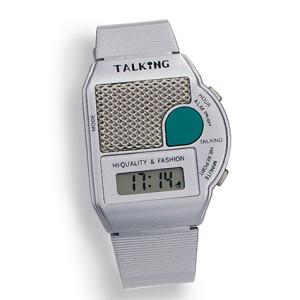 Atlanta 6694/19 sprechende Armbanduhr mit Weckfunktion