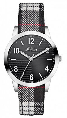 s.Oliver leather/textiles black white SO-2494-LQ
