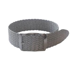 Perlon bands in trendy glitter look, silver, 18 mm