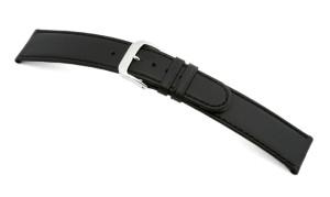 Leather strap Louisville 14mm black sleek