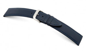 Lederband Arezzo 10mm ozeanblau, glatt