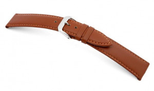 Leather strap Arezzo 10mm cognac, smooth