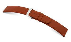Bracelets de montre Louisville, cuir de vachette. Couture : ton sur ton. 2 passants, 1 fixe, 1 libre. Fermoir argenté.
