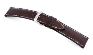 Bracelet-montre en cuir Tupelo 16mm moka avec marque d'alligator