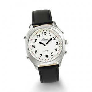 Atlanta 8908/19 silber sprechende Armbanduhr