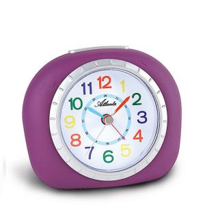 Atlanta 1966/8 purple quartz alarm clock, sweeping second