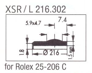 Glass XSR/L 216.302 Sapphire