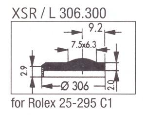 Glass XSR/L 306.300 Sapphire