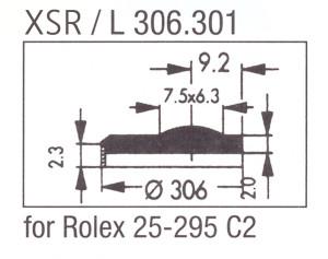Glass XSR/L 306.301 Sapphire