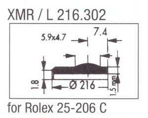 Glass XMR/L 216.302 Mineral