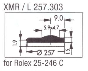Glass XMR/L 257.303 Mineral