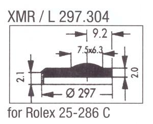 Glass XMR/L 297.304 Mineral