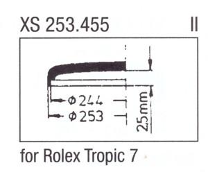 Glass XS 253.455 Clip-on glass Plastic