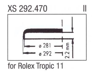 Glass XS 292.470 Clip-on glass Plastic