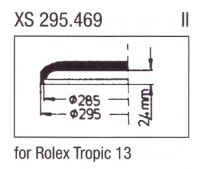 Glass XS 295.469 Clip-on glass Plastic