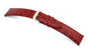 Bracelet-montre en cuir Bahia 12mm bordeaux avec marque de crocodile