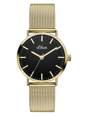 s.Oliver stainless steel gold SO-3329-MQ