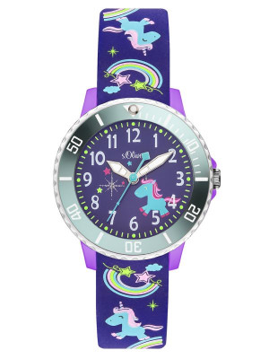 s.Oliver silicone band blue SO-3434-PQ